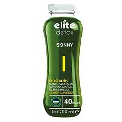 Elite Organik Detoks İçeceği SKINNY (Nane, Salatalık, Ispanak, Marul, Elma, Kereviz) 200ml