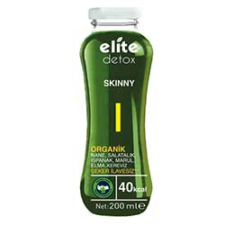 Elite Naturel Organik Detoks Skinny Meyve ve Sebze Suyu 200ml