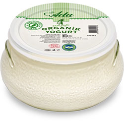 Elta-Ada Organic Yoghurt  Full Fat  700gr Glass Dish