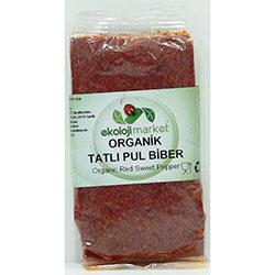 Ekoloji Market Organik Kırmızı Pul Biber  Tatlı  50gr