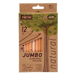 FATİH Natural Jumbo Kuruboya Kalemi 12 Renk