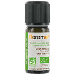 Florame Organic Lemon Essential Oil  Citrus Limonum  10ml
