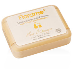 Florame Organic Traditional Soap  Orange  100g