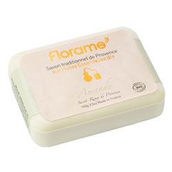 Florame Organic Traditional Soap  Almond  100g