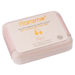 Florame Organic Traditional Soap  Rose  100g