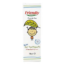 Friendly Organic Çilek Aromalı Jel Bebek Diş Macunu 75ml