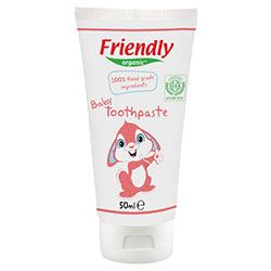 Friendly Organic Bebek Diş Macunu (%100 Gıda İçerikli, Ahududu Aromalı) 50ml