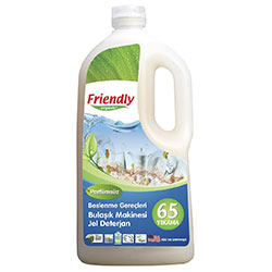 Friendly Organic Bulaşık Makinesi Jel Deterjan 1.2L (Kokusuz, 65 Yıkama)