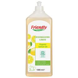 Friendly Organic Elde Bulaşık Yıkama Deterjanı (Limon Yağı) 1L