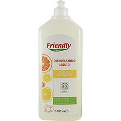 Friendly Organic Elde Bulaşık Yıkama Sıvısı (Portakallı) 1L