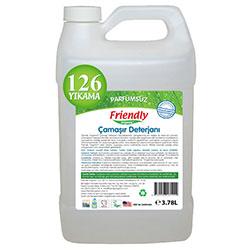 Friendly Organic Hassas Ciltler İçin Kokusuz Çamaşır Deterjanı 3,78L (126 Yıkama)
