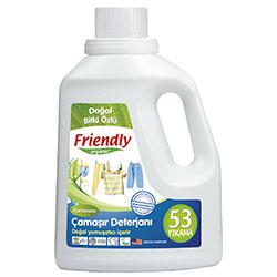 Friendly Organic Hassas Ciltler İçin Çamaşır Deterjanı Kokusuz 1,5L (53 yıkama)