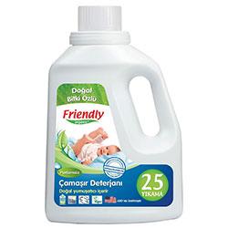 Friendly Organic Hassas Ciltler İçin Çamaşır Deterjanı Kokusuz 739ml (25 yıkama)