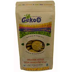 Gekoo Organic Kid's Biscuit With Milk 150g