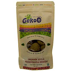 Gekoo Organic Biscuit With Milk & Carob 150g