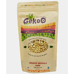 Gekoo Organik Sade Granola (Granola Ballı Hindistancevizli) 340gr