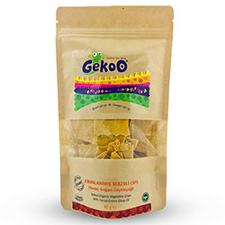 Gekoo Organic Chips with Vegetable  Carrot & Onion & Olive Oil  115g