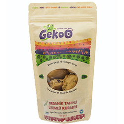 Gekoo Organic Sesame Paste & Grape Cookie  Vegan  150g