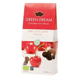Green Dream Organik Bitter Çikolata Kaplı Vişne (Bitter Cherry) 85gr