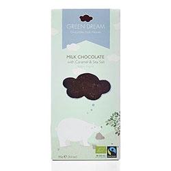 Green Dream Organik Sütlü Çikolata (Karamel ve Deniz Tuzlu) 85gr