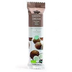 Green Dream Organik Çikolata (Sütlü & Hindistan Cevizli) 30gr