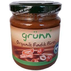 Grünn Organik %100 Fındık Püresi 250gr