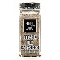 GÜZEL GIDA Organic Black Pepper Powder 60g