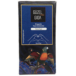 GÜZEL GIDA Organik Açai & Vişne Ham Çikolata  %70 Kakao  Glutensiz  85g