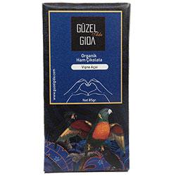 GÜZEL GIDA Organic Acai & Sour Cherry Raw Chocolate  70% Cacao  Gluten-free  85gr
