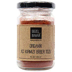 GÜZEL GIDA Organic Hot Chili Pepper Powder 45g