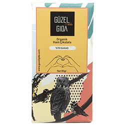 GÜZEL GIDA Organik Ham Çikolata (%70 Kakao, Glutensiz) 85gr