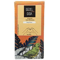 GÜZEL GIDA Organik İncir & Tarçın Ham Çikolata  %70 Kakao  Glutensiz  85g