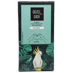 GÜZEL GIDA Organik Parçacıklı Ham Çikolata  %75 Kakao  Glutensiz  85g