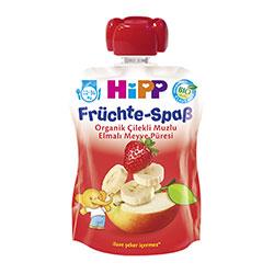HiPP Organik Elmalı Muzlu Çilekli Meyve Keyfi 90gr