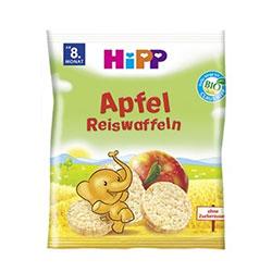 HiPP Organik Pirinç Patlağı Bebek Gofreti (Elmalı) 35gr