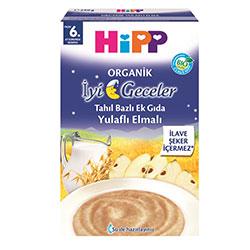 HiPP Organik İyi Geceler Sütlü Yulaflı Elmalı Tahıl Bazlı Ek Gıda 250gr