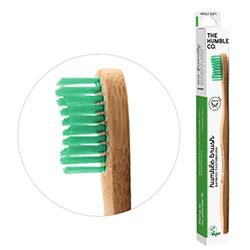 Humble Brush Ekolojik Bambu Diş Fırçası  Yetişkin  Yumuşak  Yeşil