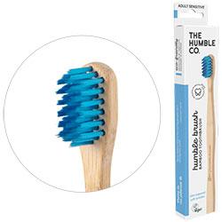 Humble Brush Ekolojik Bambu Hassas Diş Fırçası  Yetişkin  Çok Yumuşak  Mavi