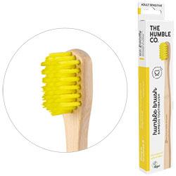 Humble Brush Ekolojik Bambu Hassas Diş Fırçası  Yetişkin  Çok Yumuşak  Sarı