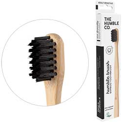 Humble Brush Ekolojik Bambu Hassas Diş Fırçası  Yetişkin  Çok Yumuşak  Siyah