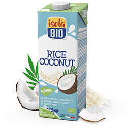 ISOLA BIO Organic and Gluten-Free Coconut & Rice Milk  Rice Coco  1L