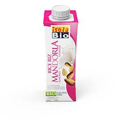 ISOLA BIO Organik Laktozsuz ve Glutensiz Badem Sütü & Pirinç İçeceği (Rice Mandorla) 250ml