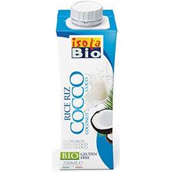 ISOLA BIO Organik Laktozsuz ve Glutensiz Hindistancevizi Sütü & Pirinç İçeceği (Rice Coco) 250ml