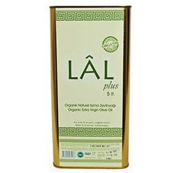 LAL Organik Naturel Sızma Zeytinyağı (Soğuk Sıkım 0,8 asit) 5L