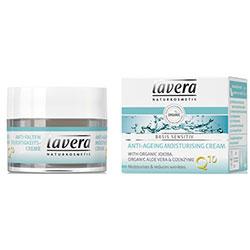 Lavera Organik Basis Sensitiv Yaşlanma Karşıtı Nemlendirici Krem (Q10 Enzimli & Jojoba & Alovevera) 50ml