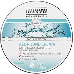 Lavera Organik Basis Sensitiv Tüm Cilt Tipleri için El ve Vücut Kremi (Shea Yağı & Badem) 150ml