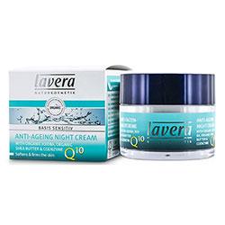 Lavera Organik Basis Sensitiv Yaşlanma Karşıtı Gece Kremi (Q10 Enzimli & Jojoba & Shea) 50ml