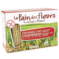 Le Pain des Fleurs Organik Yulaflı Atıştırmalık Kraker (Glutensiz Çıtır Ekmek) (30 adet) 125gr