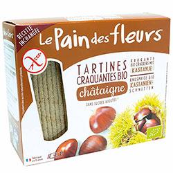 Le Pain des Fleurs Organik Kestaneli Atıştırmalık Kraker (Glutensiz Çıtır Ekmek) (30 adet) 125gr