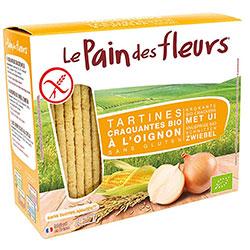 Le Pain des Fleurs Organik Soğanlı Atıştırmalık Kraker (Glutensiz Çıtır Ekmek) (30 adet) 125gr